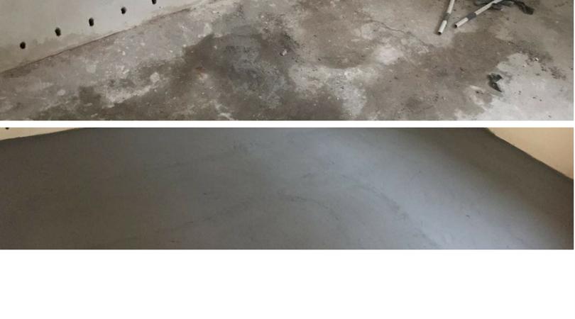 vochtige vloer behandelen